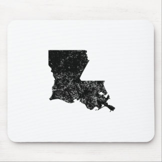Distressed Louisiana Silhouette Mouse Pad