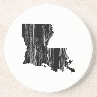 Distressed louisiana State Outline Coaster