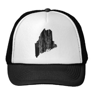 Distressed Maine State Outline Trucker Hat
