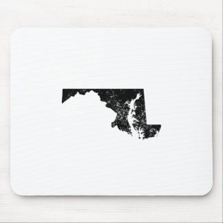 Distressed Maryland Silhouette Mousepads