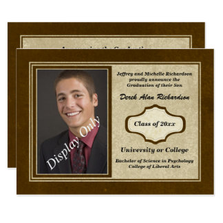 Distressed Masculine Graduation Announcement