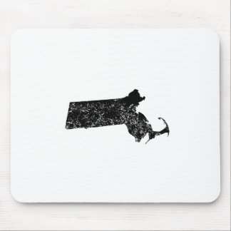 Distressed Massachusetts Silhouette Mouse Pads