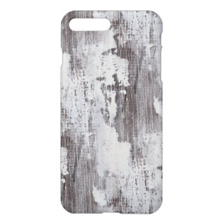 Distressed Maui Whitewashed Oak Wood Grain Look iPhone 8 Plus/7 Plus Case