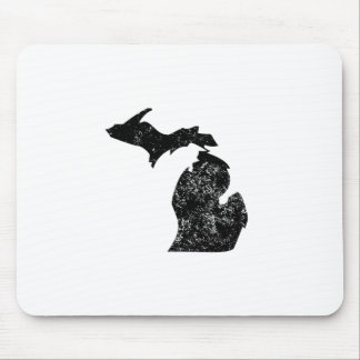 Distressed Michigan Silhouette Mouse Pad