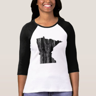 Distressed Minnesota State Outline T-Shirt