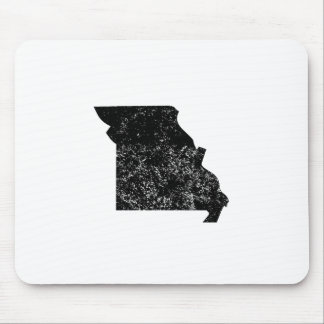 Distressed Missouri Silhouette Mouse Pads