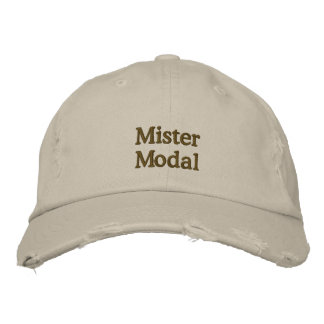 "Distressed ""Mister Modal"" cap"