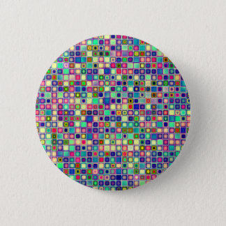 Distressed Multicolored 'Gumdrops' Tiles Pattern 2 Inch Round Button