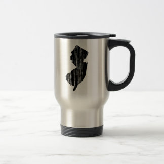 Distressed New Jersey State Outline Travel Mug