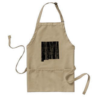 Distressed New Mexico State Outline Standard Apron