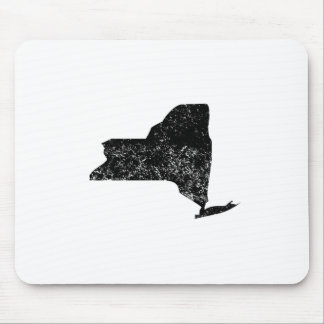 Distressed New York Silhouette Mouse Pads