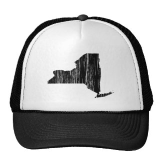 Distressed New York State Outline Trucker Hat