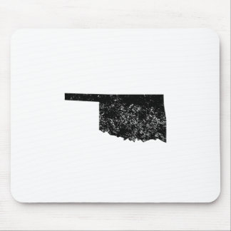 Distressed Oklahoma Silhouette Mouse Pads