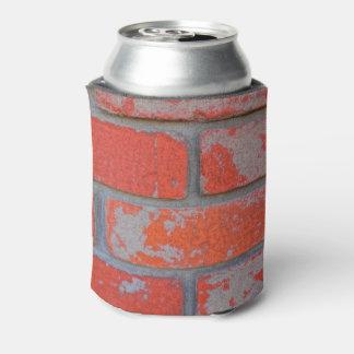 Distressed Orange Brick Can Cooler