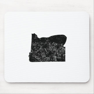 Distressed Oregon Silhouette Mouse Pads