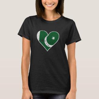 Distressed Pakistani Flag Heart T-Shirt