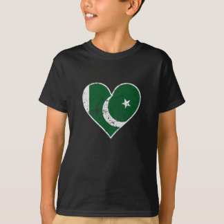 Distressed Pakistani Flag Heart T-Shirt