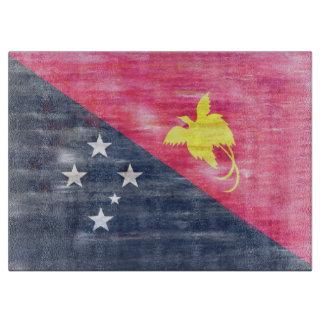 Distressed Papua New Guinea flag Cutting Board