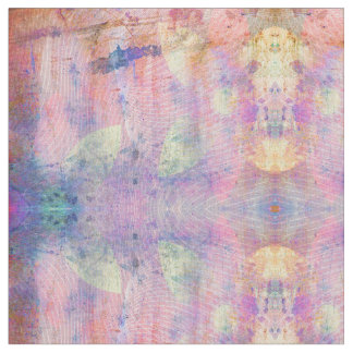 Distressed Pastel Grunge Abstract Fabric
