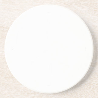 Distressed Peace Sign White Coaster
