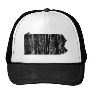 Distressed Pennsylvania State Outline Trucker Hat