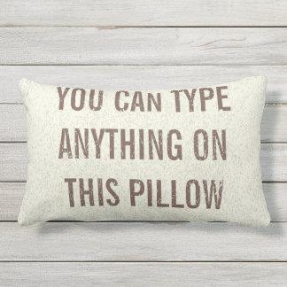 Distressed Personalized Cream Lumbar Lumbar Pillow