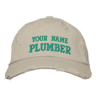 Distressed personalized Plumber Hat