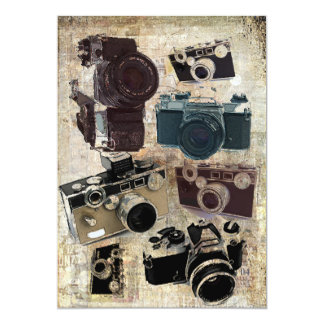 distressed photographer photography retro Camera Card
