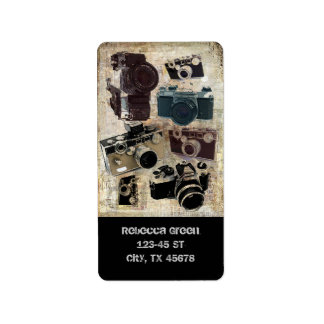 distressed photographer photography retro Camera Label