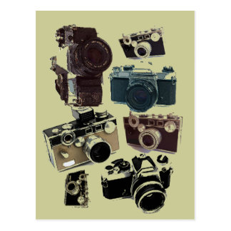 distressed photographer photography retro Camera Postcard