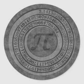 Distressed Pi To 125 Classic Round Sticker