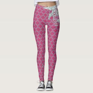 Distressed Pink Leggings