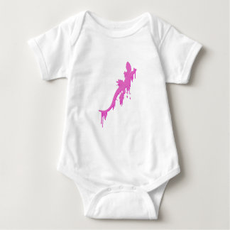 Distressed Pink Salamander With Paint Drip Baby Bodysuit