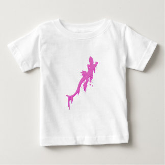 Distressed Pink Salamander With Paint Drip Baby T-Shirt