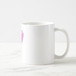 Distressed Pink Salamander With Paint Drip Coffee Mug