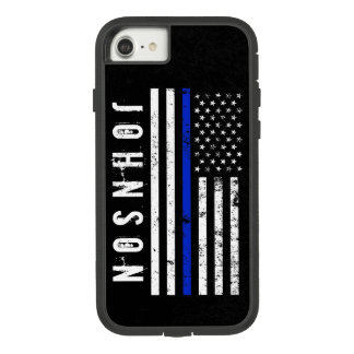 Distressed Police Style American Flag Personalized Case-Mate Tough Extreme iPhone 8/7 Case