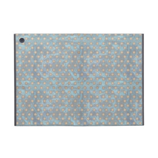 Distressed Polka Dot Pattern in Blue and Beige Covers For iPad Mini