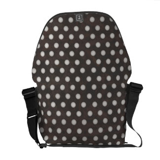 Distressed Polka Dot Pattern in Charcoal & White Courier Bag