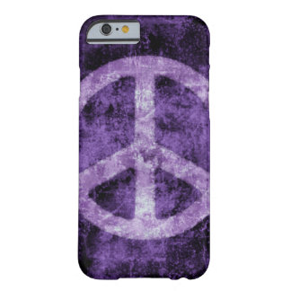 Distressed Purple Peace Sign iPhone 6 case Barely There iPhone 6 Case