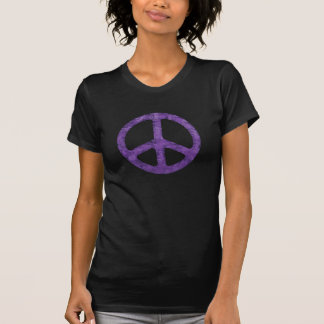 Distressed Purple Peace Sign Shirt