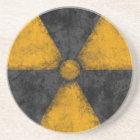 Distressed Radiation Symbol Coaster