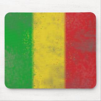 Distressed Rasta Stripes Mouse Pad