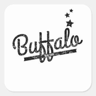Distressed Retro Buffalo Logo Sticker
