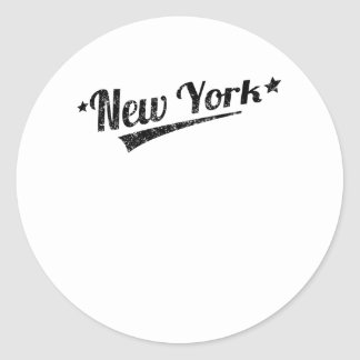Distressed Retro New York Logo Stickers