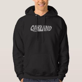 Distressed Retro Oakland Logo Hoodie