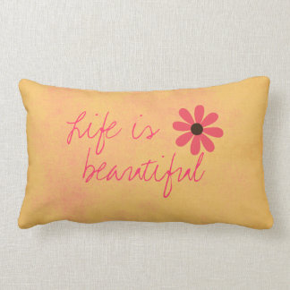 Distressed Retro Pillow with Quote
