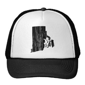 Distressed Rhode Island State Outline Trucker Hat