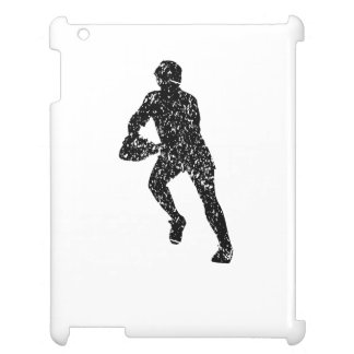 Distressed Rugby Player Silhouette Cover For The iPad 2 3 4