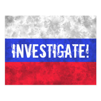 Distressed Russian Flag Resistance Postcard