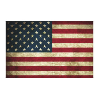 Distressed Rustic American 50 Star Flag Print